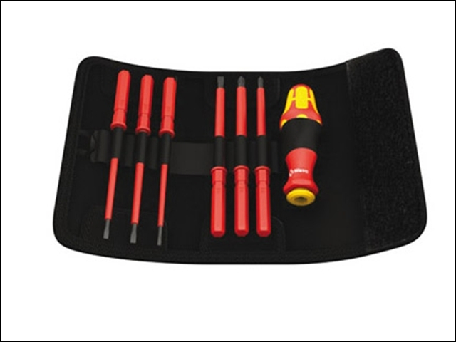 Kraftform VDE Kompakt Intercha ngeable Screwdriver Set of 7 S