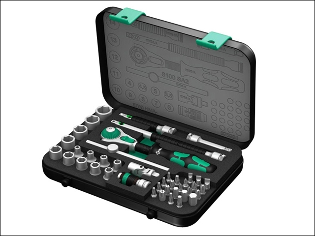 Zyklop SA2 Socket Set of 42 Metric 1/4in Drive