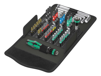 Kraftform Kompakt 100 Screwdriving Service Bit Set, 52 Piece