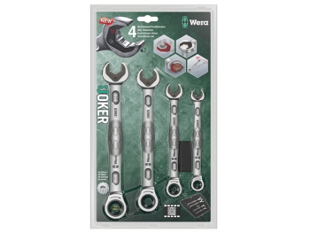Joker Ratcheting Combination Spanner Set, 4 Piece