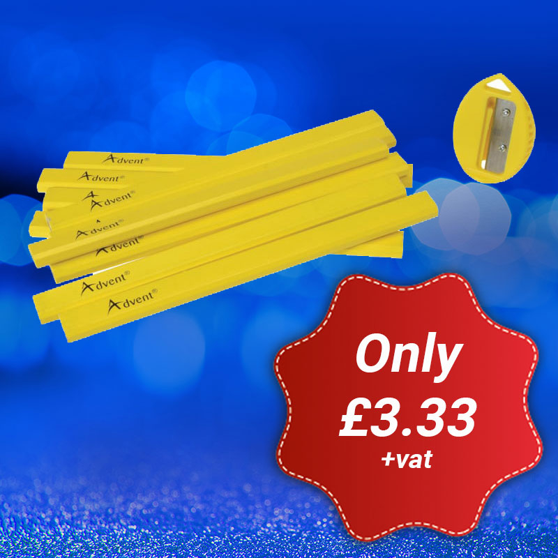 ADVENT XMS18 PENCILS 10 pack carpenters' pencils