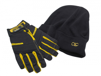XMS19GLCOMBO Construction Gloves & Beanie Hat