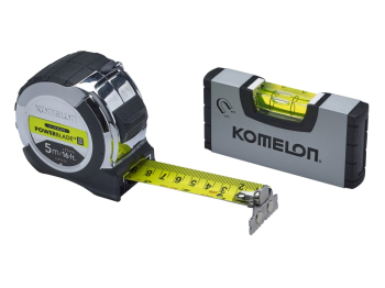 KOMELON XMS19 TAPELEV Tape 5mt/16ft with mini-level