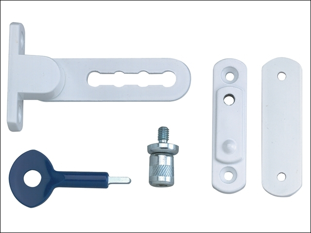 P117 Ventilation Window Lock White Finish Pack of 2