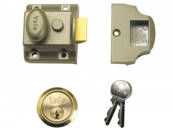 706 Traditional Nightlatch 40mm Backset ENB Finish Box