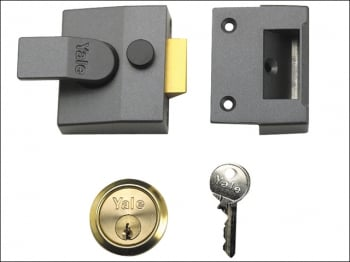 84 Standard Nightlatch 40mm Backset DMG Finish Box