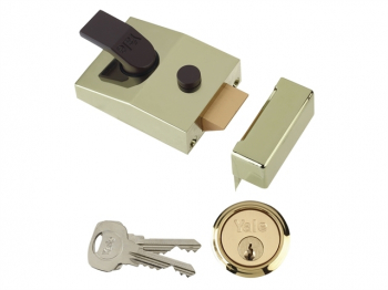 89 Deadlock Nightlatch 60mm Backset Brasslux Finish Box