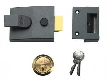 89 Deadlock Nightlatch 60mm Ba ckset DMG Finish Satin Chrome