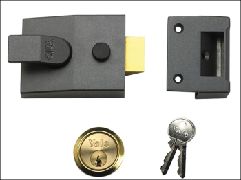 91 Basic Nightlatch 60mm Backset DMG Finish Box