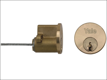 P1109 Replacement Rim Cylinder & 2 Keys Polished Brass Finis
