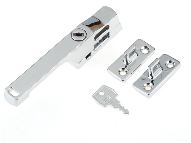 P115CH Lockable Window Handle Chrome Finish