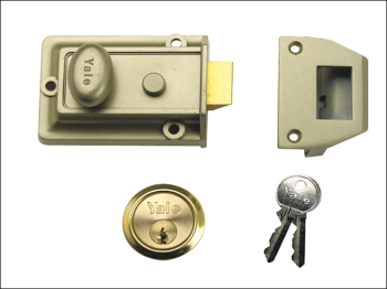 P77 Traditional Nightlatch 60m m Backset Nickel Brass Finish