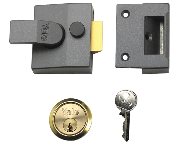 P85 Deadlocking Nightlatch 40m m Backset DMG Finish Satin Chr