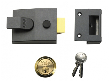 P89 Deadlock Nightlatch 60mm Backset Chrome Finish Visi