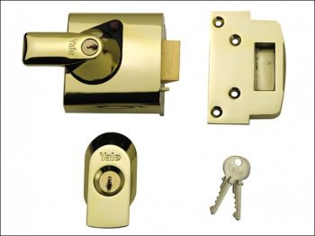 BS1 Nightlatch British Standar d Lock 60mm Backset Brasslux F