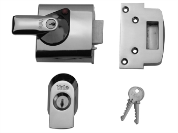 BS1 Nightlatch British Standar d Lock 60mm Backset Chrome Fin