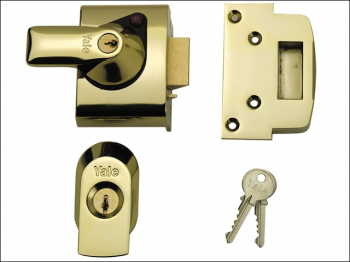 BS2 Nightlatch British Standar d Lock 40mm Backset Brasslux F