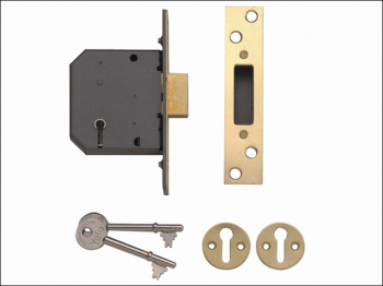 PM552 5 Lever Mortice Deadlock 80mm 3in Polished Brass