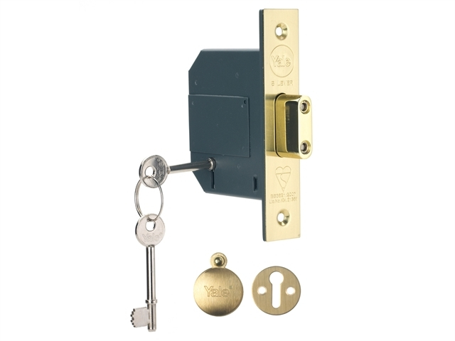 PM562 Hi-Security BS 5 Lever M ortice Deadlock 81mm 3in Polis
