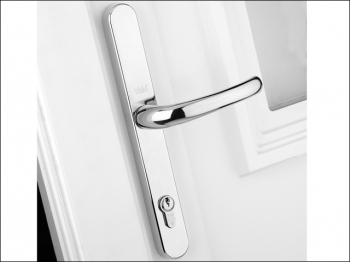 Retro Door Handle PVCu Polished Chrome Finish