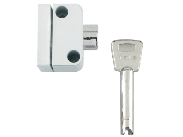8K102 Push Button Window Lock White Finish Visi