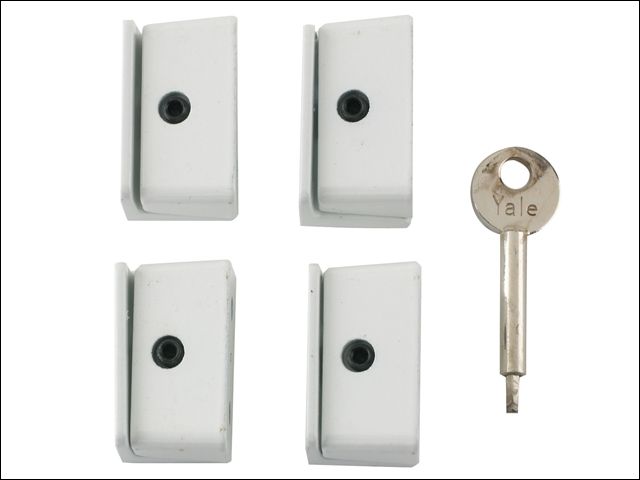 8K109 Window Stop White Pack of 4 Visi