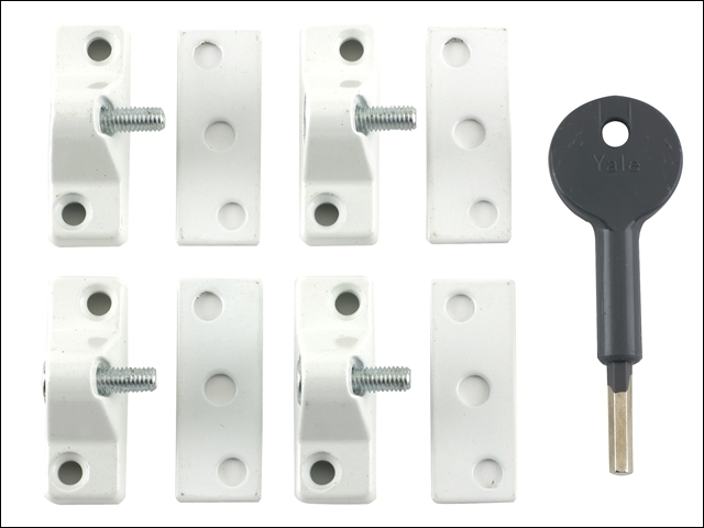8K118 Economy Window Lock White Finish Pack of 4 Visi