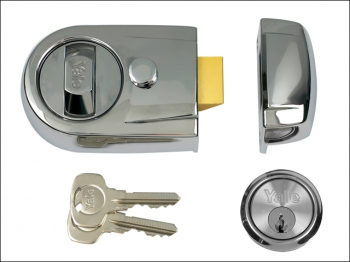 Y3 Nightlatch Modern 60mm Back set Polished Chrome Finish Vis