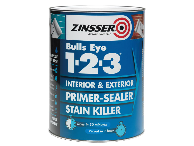 123 Bulls Eye Primer & Sealer Paint 1 Litre
