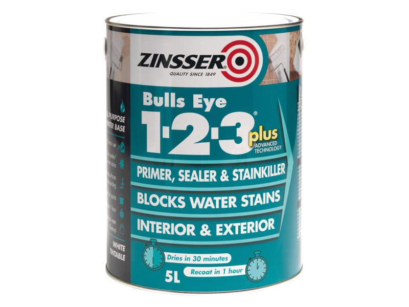 123 Bulls Eye Plus Primer & Sealer Paint 1 Litre