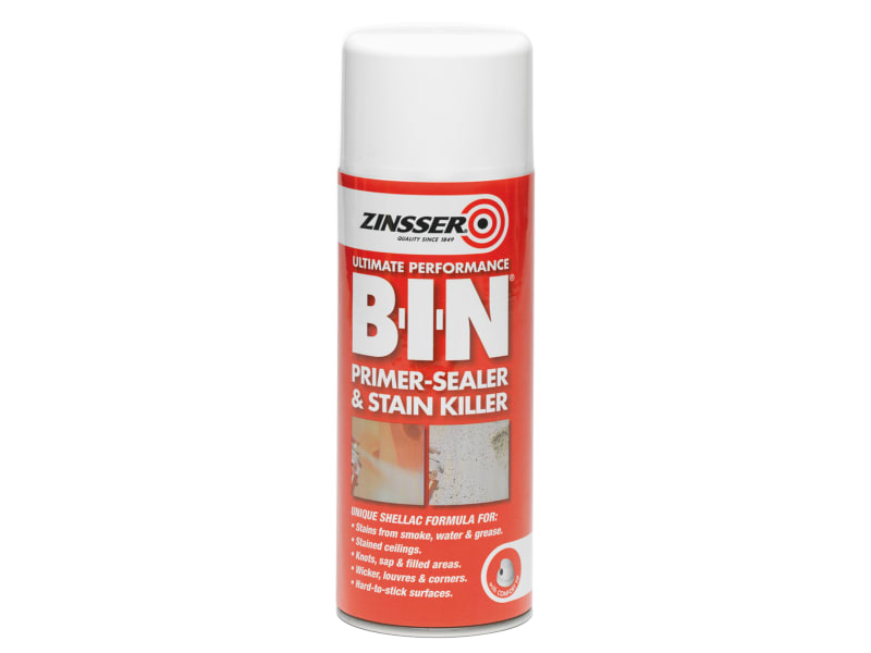B.I.N Primer & Sealer Stain Killer Aerosol 400ml