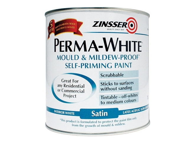 Perma-White Interior Paint Satin 1 Litre