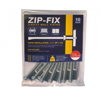 Zip-Fix Cavity Wall Fixing BAG=10 TIMBAG ZIP6 M6 X 40/60