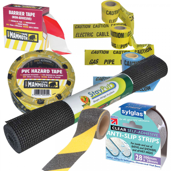 Safety, Security, Anti-Slip, Warning & Barrier Tapes