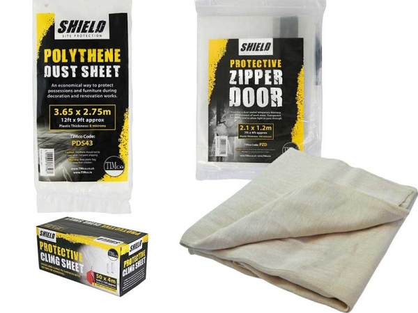 Dust Sheets & Door Zipper