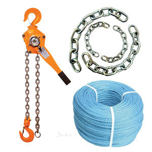 Chains, Ropes & Tie Downs + Lifting